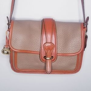 Vintage Dooney and Bourke saddle leather crossbody